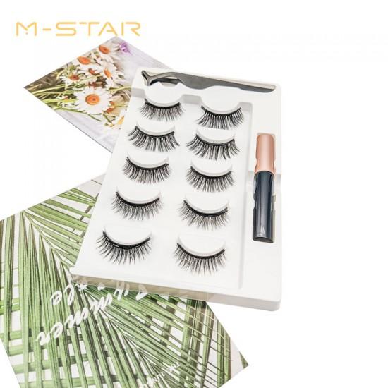 M-STAR Lashes 5Pairs Magnetic Eyelashes Kit - MT5